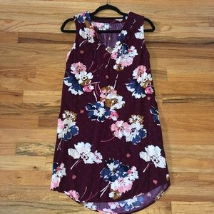 Old Navy Maroon Floral Dress